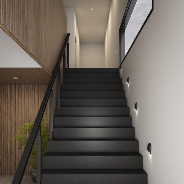 DALS Lighting Indoor/Outdoor Half Moon LED Step Light - Free ...