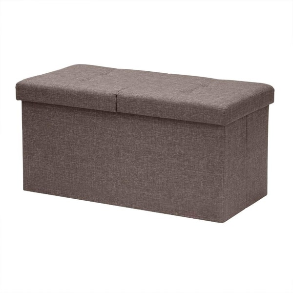 Awesome Shop Storage Ottoman Bench 30 Inch Smart Lift Top Brown Dailytribune Chair Design For Home Dailytribuneorg
