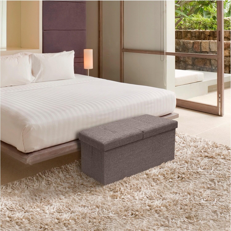 Storage Ottoman Bench 30 Inch Smart Lift Top Brown 842165108265 Ebay