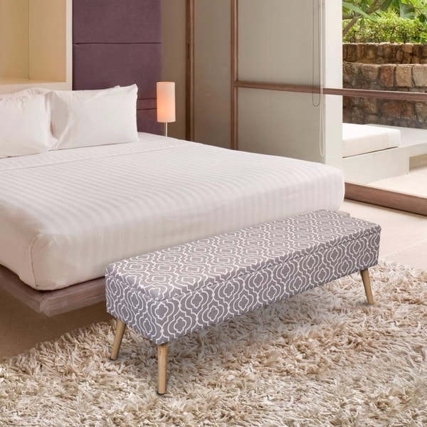 Shop Storage Ottoman Bench 52 Inch Easy Lift Top Upholstered