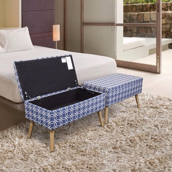 Shop Storage Ottoman Bench 30 Inch Easy Lift Top