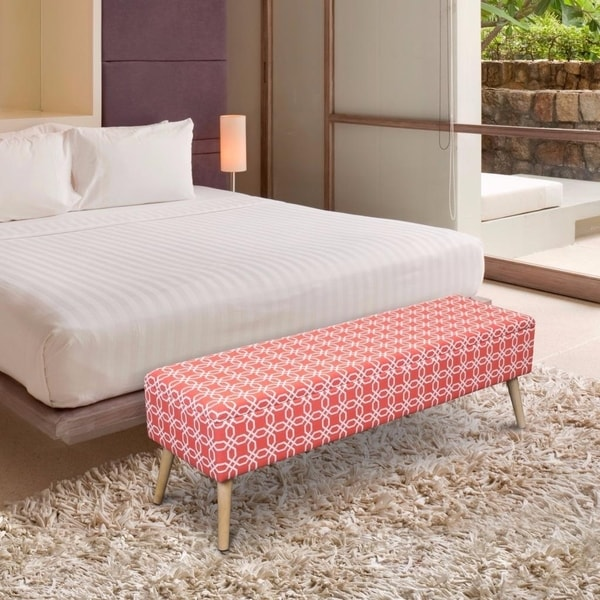 Shop Storage Ottoman Bench 52 Inch Easy Lift Top
