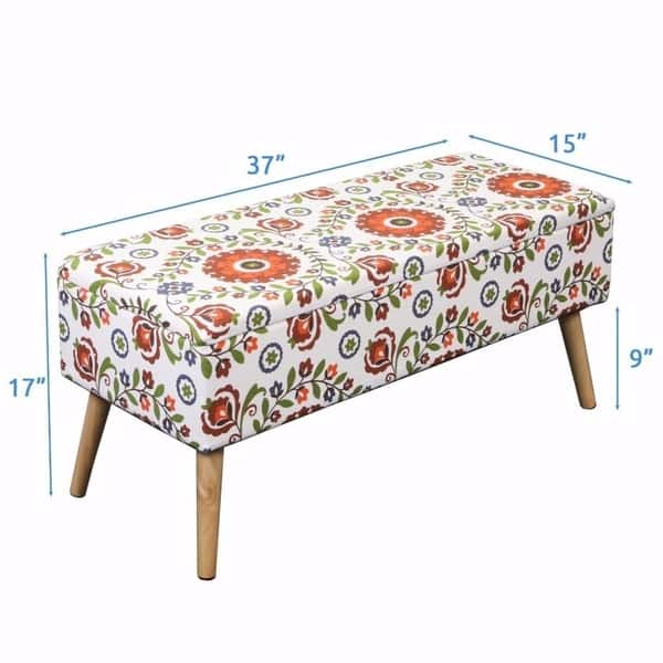 Cool Shop Storage Ottoman Bench 37 Inch Easy Lift Top Upholstered Dailytribune Chair Design For Home Dailytribuneorg