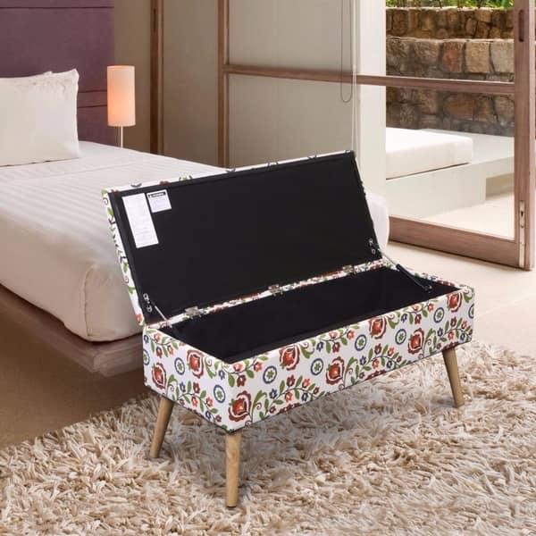 Stupendous Shop Storage Ottoman Bench 37 Inch Easy Lift Top Upholstered Inzonedesignstudio Interior Chair Design Inzonedesignstudiocom