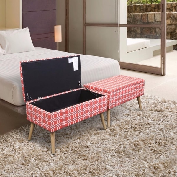 Storage Ottoman Bench 30 inch Easy Lift Top Upholstered - Octagon ...