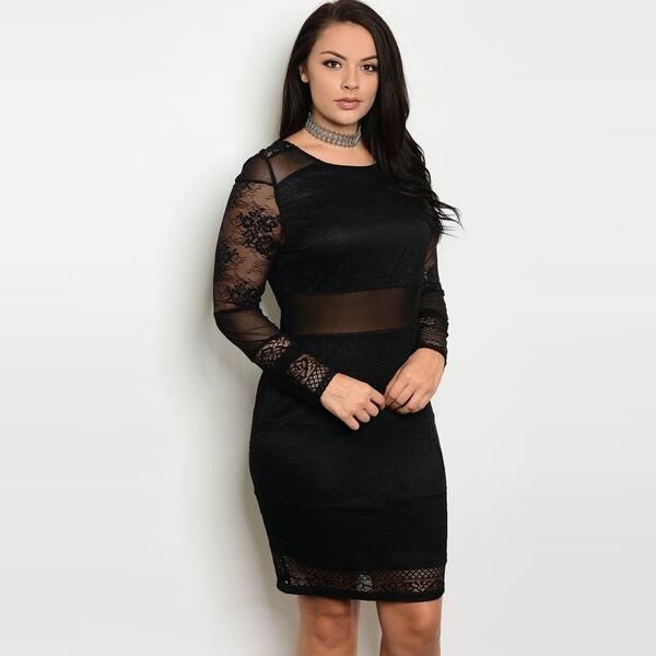 Shop Shop The Trends Women\'s Plus Size Long Sheer Sleeve ...