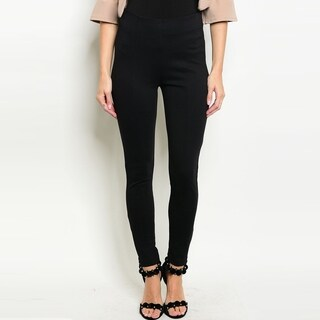 Shop The Trends Women's Classic Black Slim Fit Pants With High Waistband