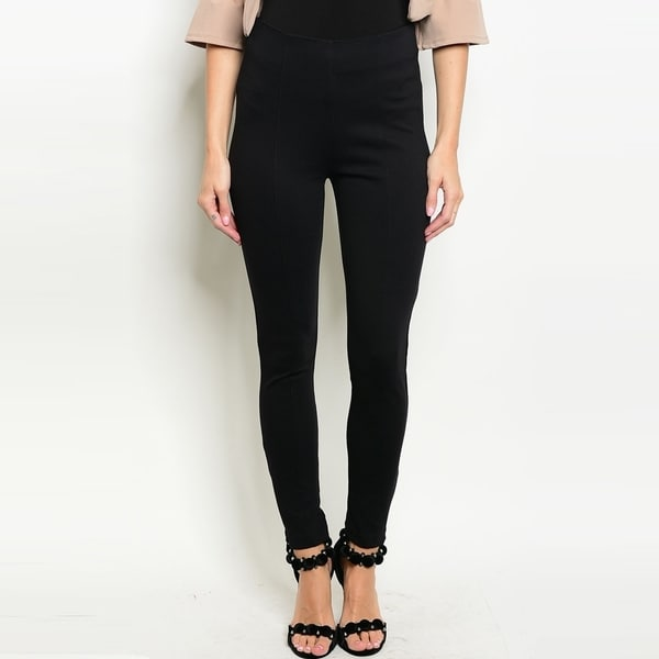 3979afe60 Shop The Trends Women's Classic Black Slim Fit Pants With High  Waistband