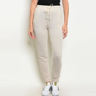 Shop The Trends Women's Jogger Pants With Drawstring Tie