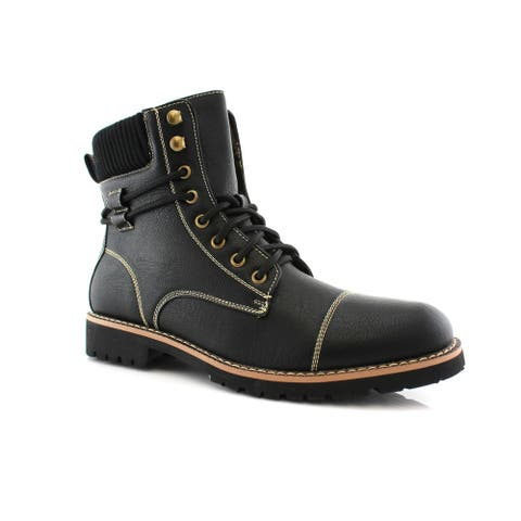Polar Fox Nicholas MPX808570 Men's Combat Boots For Work or Casual Wear