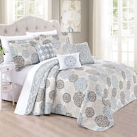 Serenta 6 Piece Printed Marina MDLN Quilts Set