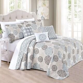 Serenta 6 Piece Printed Marina MDLN Quilts Set