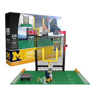 Michigan Wolverines NCAA End Zone Buildable Playset