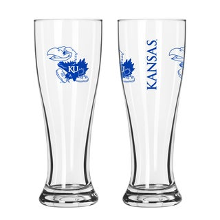 Kansas Jayhawks NCAA 2-Pack Gameday Pilsner Set