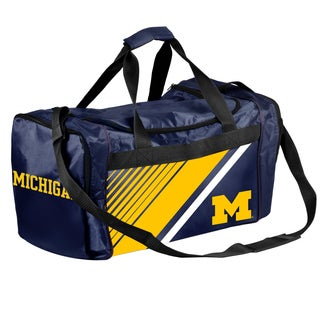Michigan Wolverines NCAA Border Stripe Duffle Bag