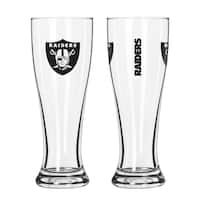 Oakland Raiders NFL 2-Pack Gameday Pilsner Set