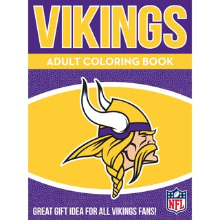 Minnesota Vikings NFL Adult Coloring Book