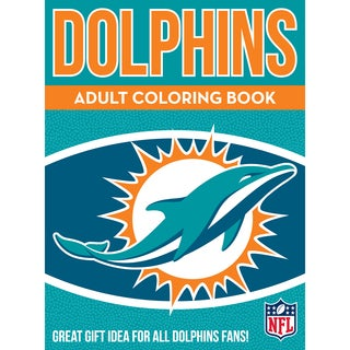 Miami Dolphins NFL Adult Coloring Book