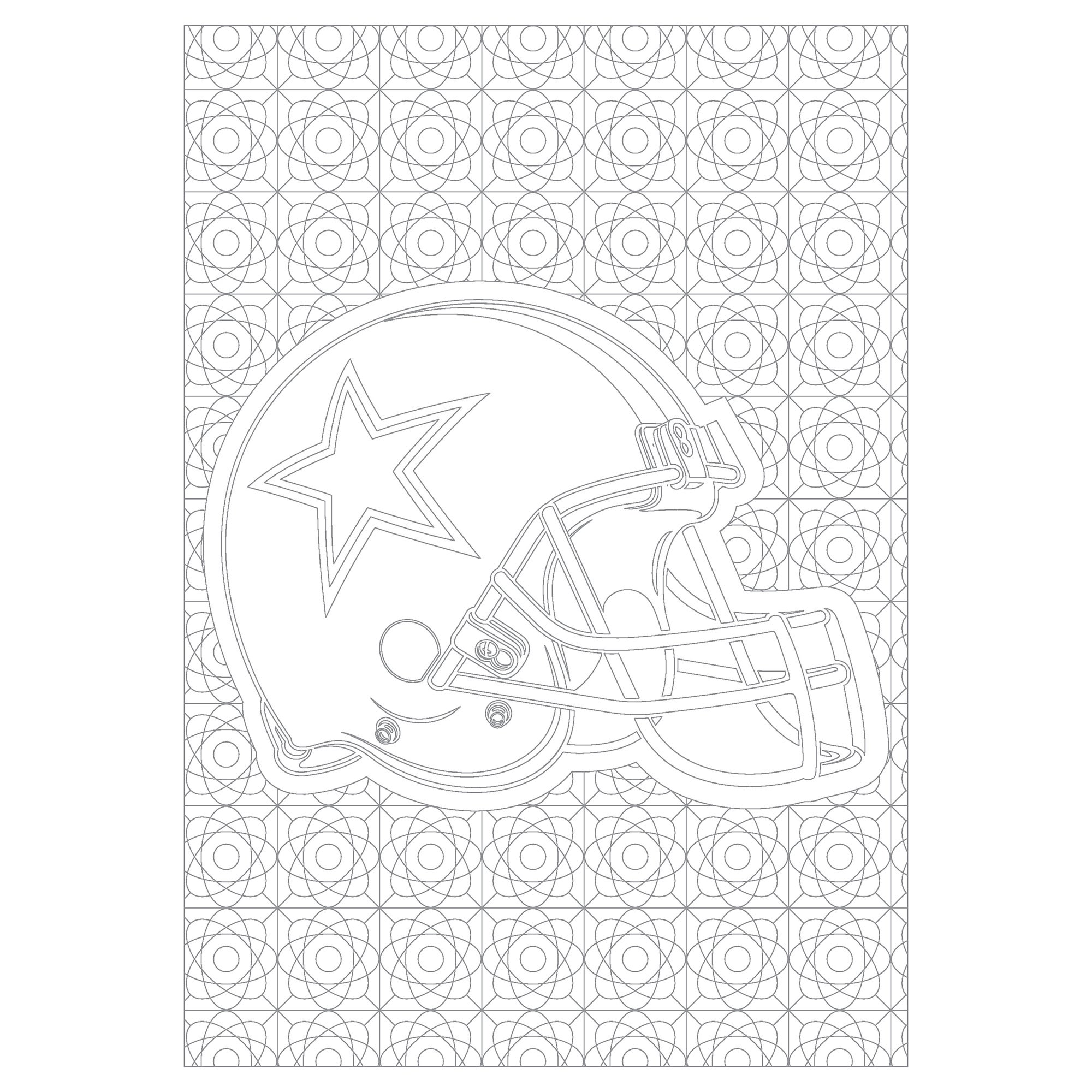 Dallas Cowboys Nfl Adult Coloring Book Overstock 18012027