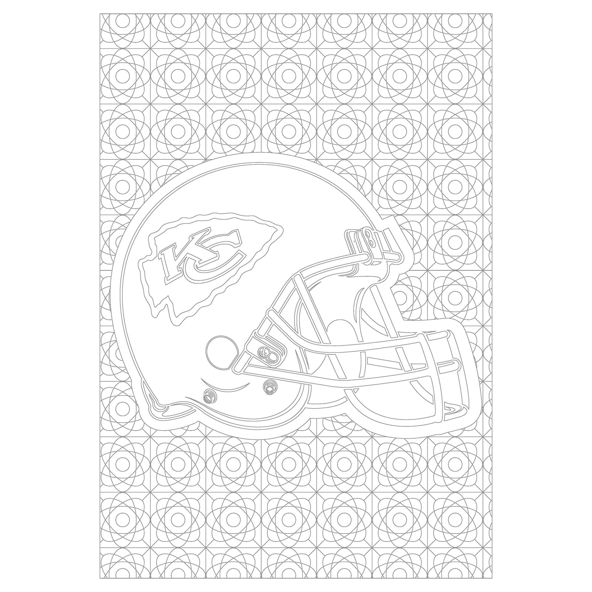 Helmet Kansas City Chiefs Football Helmet Coloring Pages