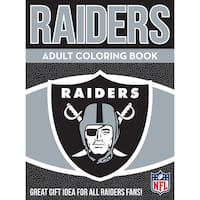 Oakland Raiders NFL Adult Coloring Book