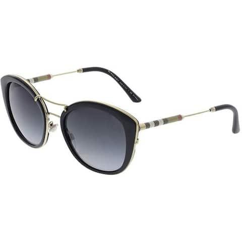 Burberry Women's BE4251Q 30018G 53 Black Round Sunglasses - Grey