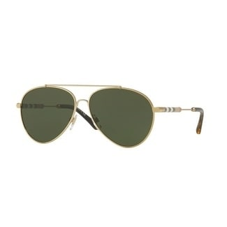 8c8b9b939a11 Shop Burberry Women s BE3092Q 114571 57 Light Gold Aviator Sunglasses -  Green - Free Shipping Today - Overstock - 18012661