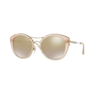 7eac07ed2a5be1 Burberry Women  x27 s BE4251Q 36426E 53 Pink Round Sunglasses - Brown