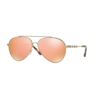 fabfe29b3e7 Shop Burberry Women s BE3092Q 12437J 57 Gold Aviator Sunglasses - Rose -  Free Shipping Today - Overstock - 18012669