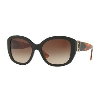 bed53cfd9225 Shop Burberry Women s BE4248 363713 57 Black Irregular Plastic Sunglasses -  Brown - Free Shipping Today - Overstock.com - 18012672