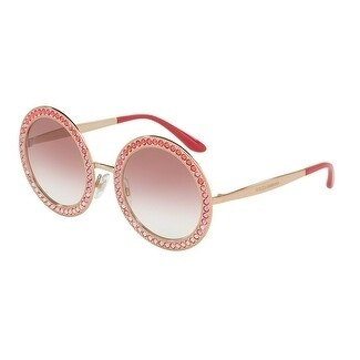 4e2f6052229 Shop Dolce   Gabbana Women s DG2170B 12988D 51 Pink Gradient Round  Sunglasses - Free Shipping Today - Overstock - 18012708