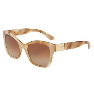4e0f076abcae Shop Dolce   Gabbana Women s DG4309F 312113 55 Brown Gradient Square  Sunglasses - Free Shipping Today - Overstock.com - 18012723