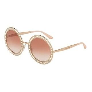 Dolce & Gabbana Women's DG2170B 129813 51 Pink Gradient Round Sunglasses
