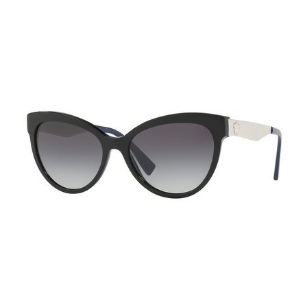 a5a8cd72c9ca Shop Versace Women s VE4338A 52478G 57 Grey Gradient Cat Eye Sunglasses -  Free Shipping Today - Overstock - 18012738