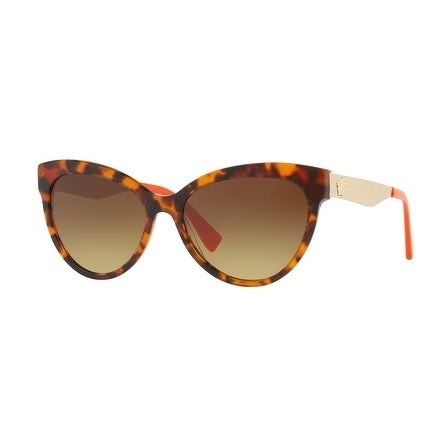 7b67296431 Shop Versace Women s VE4338A 524413 57 Brown Gradient Cat Eye Sunglasses -  Free Shipping Today - Overstock.com - 18012745