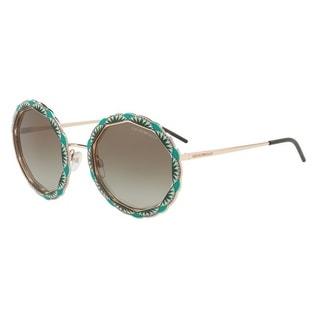 Emporio Armani Women's EA2054 31678E 55 Green Gradient Round Sunglasses