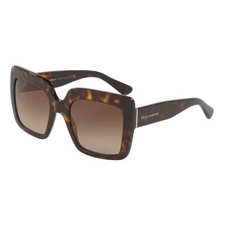3f7554014590 Shop Dolce   Gabbana Women s DG4310 502 13 52 Brown Gradient Square  Sunglasses - Free Shipping Today - Overstock - 18012759