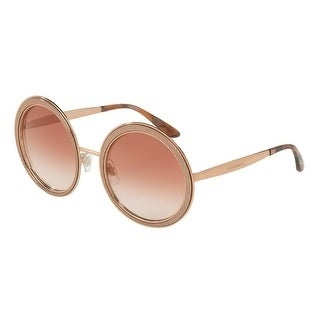 60581c0e057a Shop Dolce   Gabbana Women s DG2179 129813 54 Pink Gradient Round Sunglasses  - Free Shipping Today - Overstock - 18012764