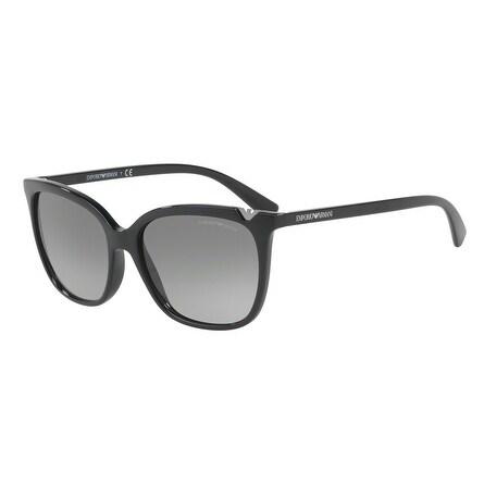 f7d89fa940 Shop Emporio Armani Women s EA4094 501711 56 Grey Gradient Square Sunglasses  - Free Shipping Today - Overstock - 18012769