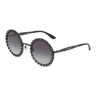 ea029c9eba6e Shop Dolce   Gabbana Women s DG2173B 01 8G 56 Grey Gradient Round Sunglasses  - Free Shipping Today - Overstock - 18012771