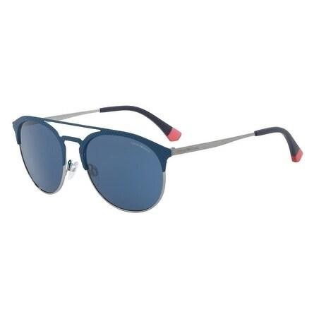 0a9cf3be0269 Shop Emporio Armani Women s EA2052 318180 56 Blue Oval Sunglasses - Free  Shipping Today - Overstock.com - 18012774
