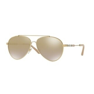 Burberry Women's BE3092Q 11456E 57 Light Gold Aviator Sunglasses - Brown