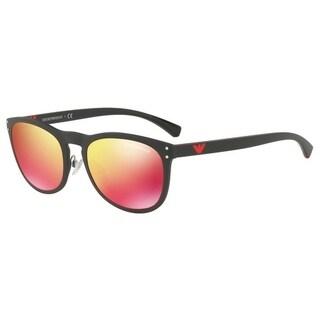 Emporio Armani Women's EA4098 50426Q 54 Red Multilayer Oval Sunglasses