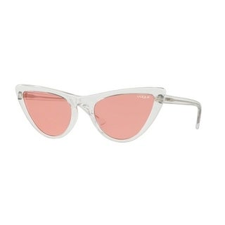 Vogue Women's VO5211S W74584 54 Pink Plastic Cat Eye Sunglasses