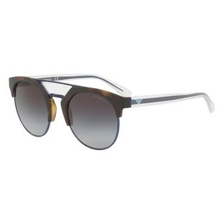 Emporio Armani Women's EA4092 50898G 53 Grey Gradient Round Sunglasses