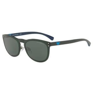 Emporio Armani Women's EA4098 556471 54 Grey Green Oval Sunglasses