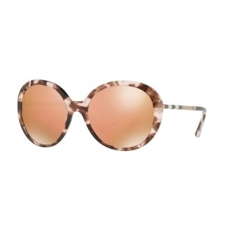 b178fcd87b31 Shop Burberry Women s BE4239Q 36637J 57 Pink Havana Round Sunglasses - Rose  - Free Shipping Today - Overstock - 18012811