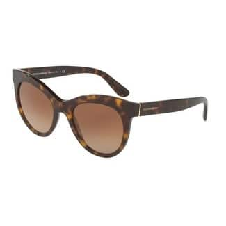 Dolce & Gabbana Women's DG4311 502/13 51 Brown Gradient Oval Sunglasses