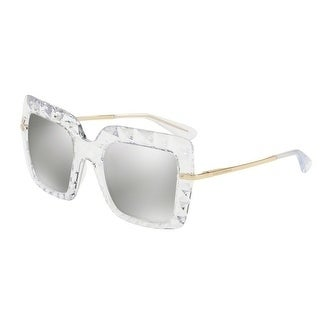 1a1bc008d142 Shop Dolce   Gabbana Women s DG6111 31336G 51 Light Grey Mirror Silver  Square Sunglasses - Free Shipping Today - Overstock - 18012821