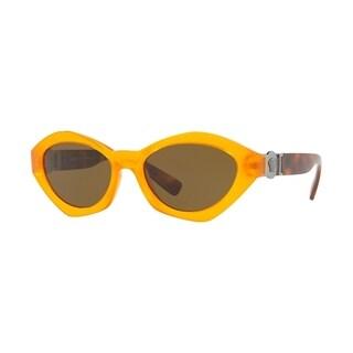 Versace Women's VE4334 525773 54 Brown Plastic Sunglasses